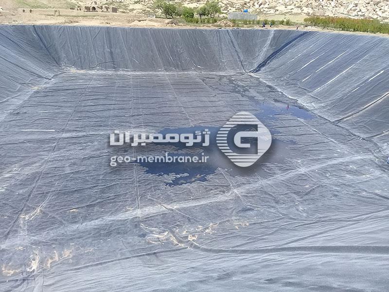 پروژه ساخت استخر ژئوممبران ذخیره آب کشاورزی به متراژ 8500 متر در کاشان