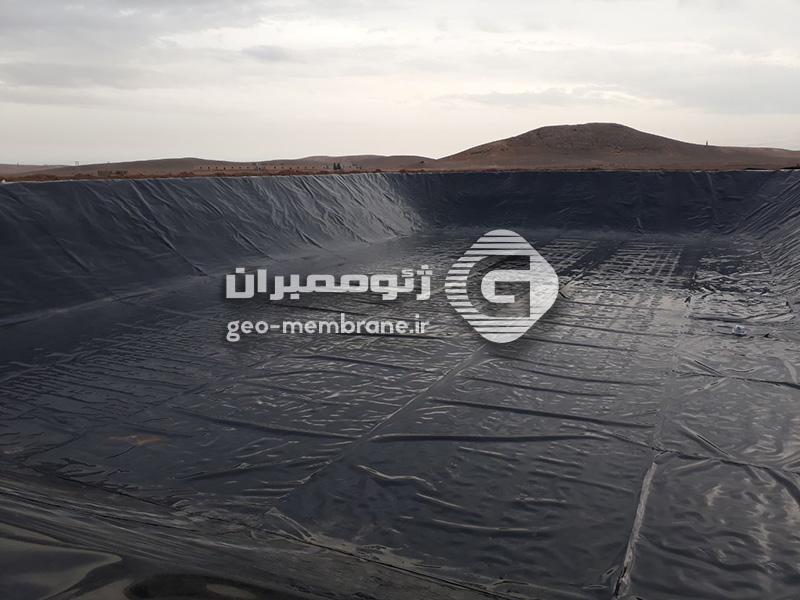 استخر پلیمری ذخیره آب کشاورزی گرگاب اصفهان