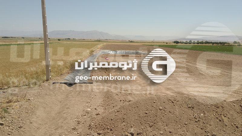 پروژه ساخت استخر ژئوممبران در بیضا روستای علی آباد ، آقای پرویز اکبری