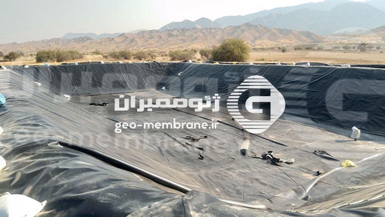 پروژه ساخت استخر پلیمری ذخیره آب کشاورزی در فراشبند