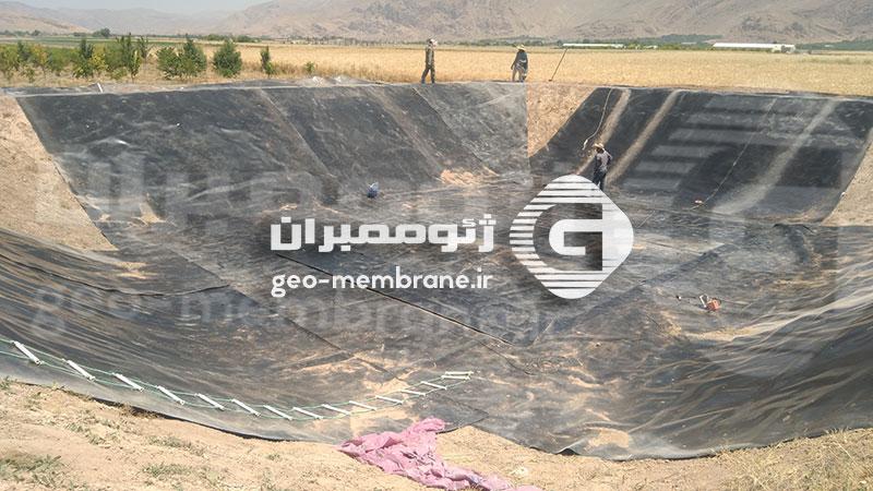 ساخت استخر پلیمری آقای شفیعی پور ، مرودشت ، روستای فاروق