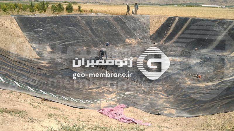 نصب ورق ژئوممبران مرودشت ، روستای فاروق