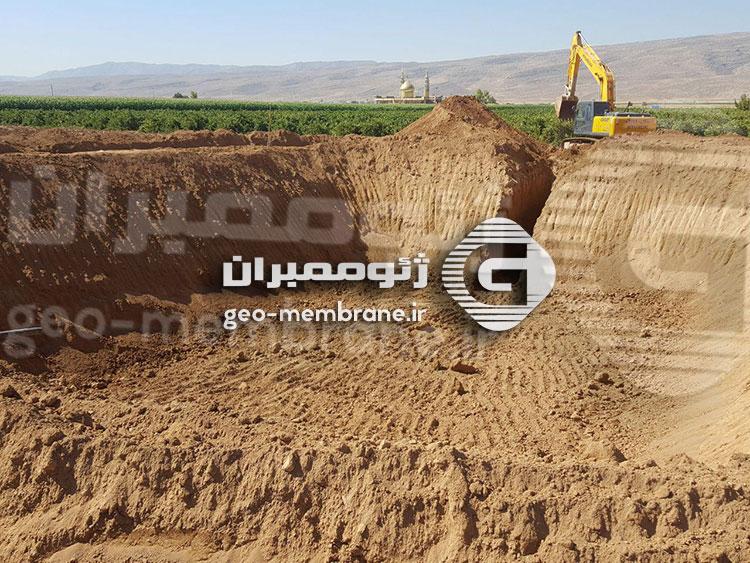گودبرداری استخر ژئوممبران خرمبید استان فارس