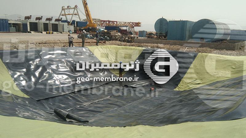 پروژه ساخت استخر ژئوممبران میدان نفتی سروستان
