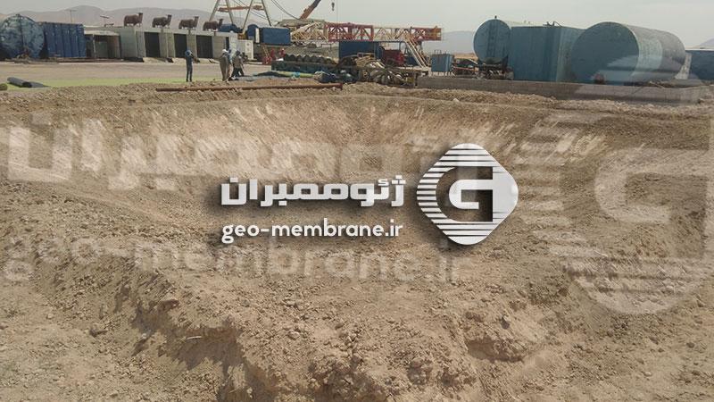 پروژه ساخت استخر ژئوممبران میدان نفتی سروستان -  شرکت IGC