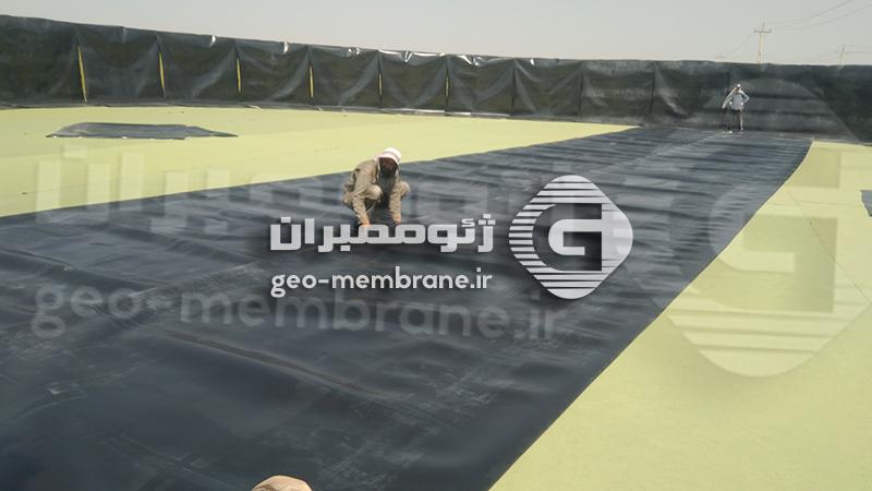 نصب ورق ژئوممبران در استان فارس مرودشت