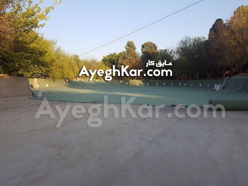 پروژه طراحی و اجرای دریاچه مصنوعی پارک آزادی شیراز با ورق ژئوممبران (ورق پلیمری)