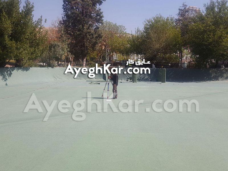 نصب ژئوتکستایل دریاچه مصنوعی پارک آزادی شیراز