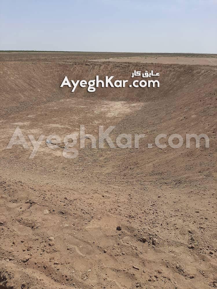 بستر سازی استخر خاکی برای عایق ژئوممبران قنوات قم