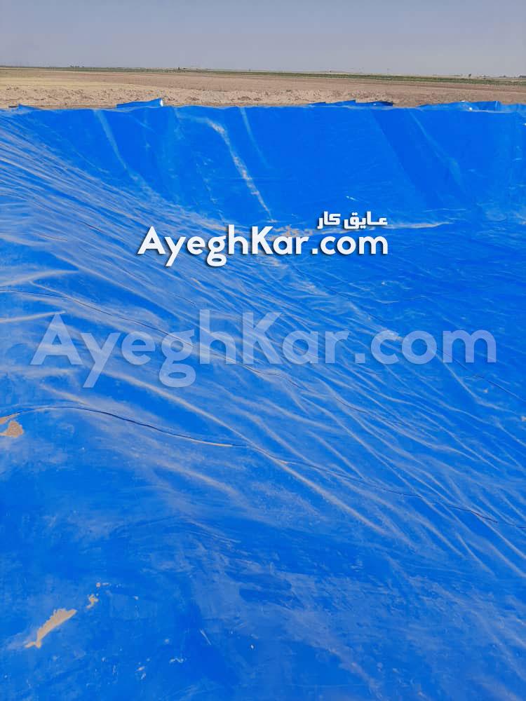 پایان کار استخر ژئوممبران (استخر پلیمری) استان قم شهر قنوات
