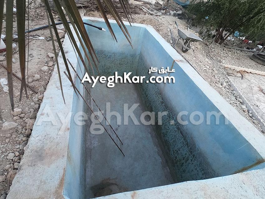استخر ژئوممبران ذخیره آب جم استان بوشهر