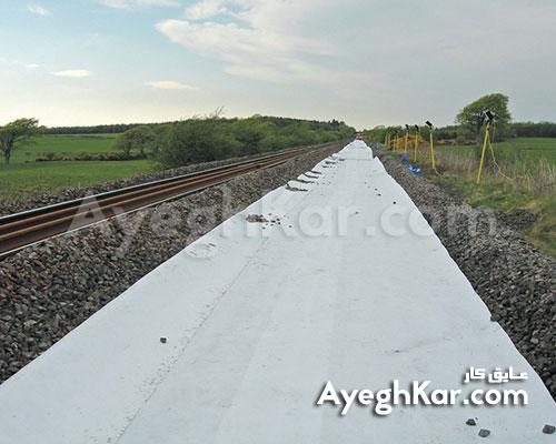 ژئوتکستایل زیر سازی خط آهن (راه آهن)