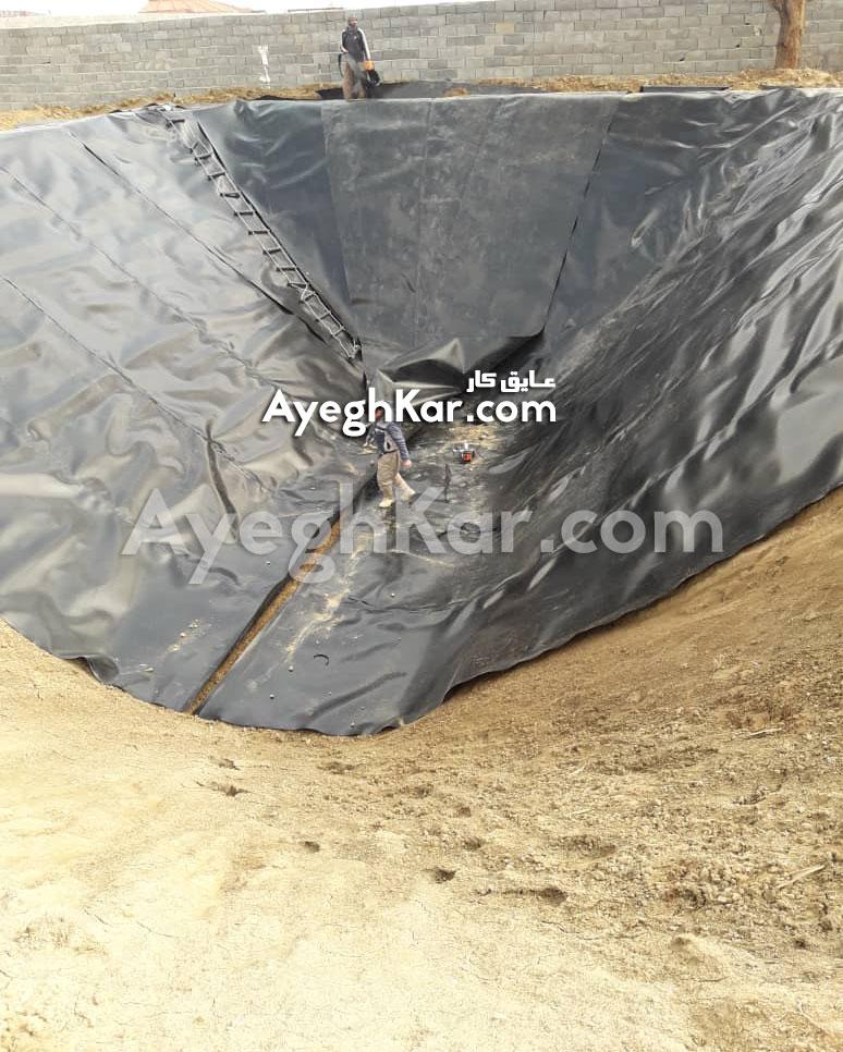 اجرای ورق ژئوممبران استخر کبوتر آباد اصفهان