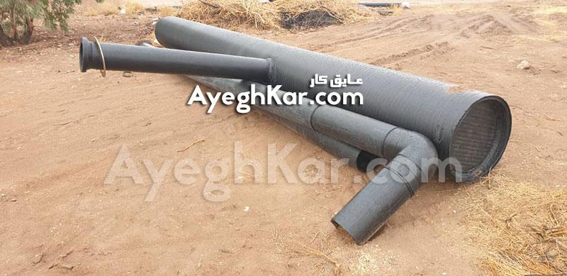 لوله گذاری استخر ژئوممبران ذخیره آب کرمان شرکت صنایع مس شهید باهنر