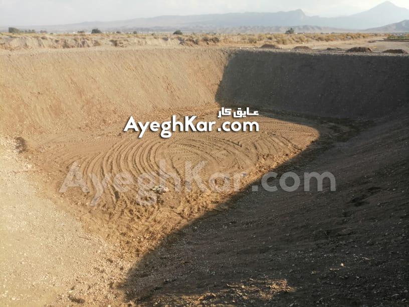 استخر خاکی ذخیره آب کشاورزی حاجی آباد هرمزگان بندرعباس