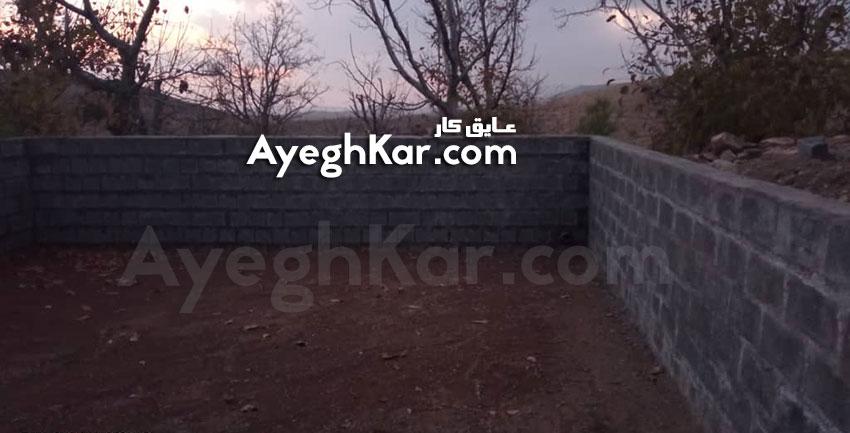 آماده سازی استخر عمودی با دیواره بلوکی جهت نصب ورق ژئوممبران