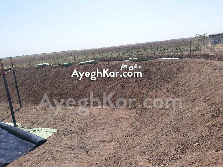 نصب ورق ژئوممبران با زیر سازی ژئوتکستایل در استان قزوین