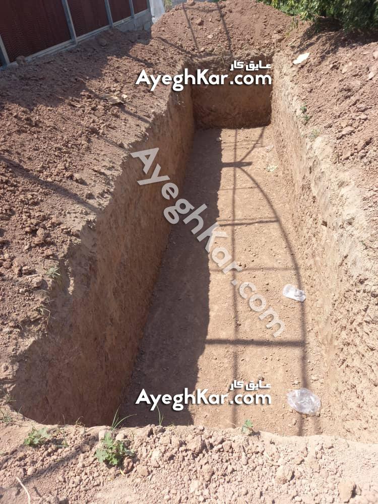 استخر خاکی ذخیره آب دزفول خوزستان آقای اسکندری